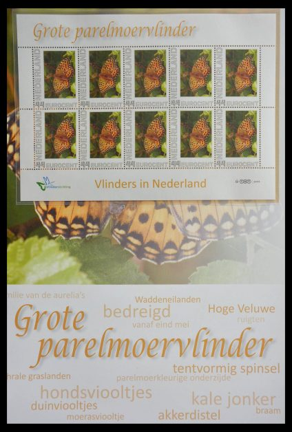 Stamp collection 13105 Butterflies in the Netherlands.