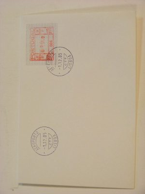 Stamp collection 19008 Portugal ATM stamps on first day cover 1981-1987.