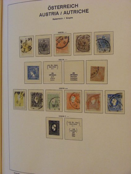 Stamp collection 19405 Austria 1850-1982.