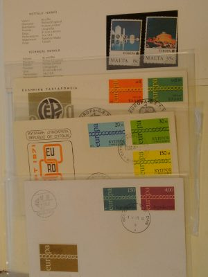 Stamp collection 19889 Europa Cept 1956-1989.