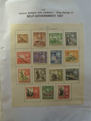 Stamp collection 21891 Malta 1885-2008.