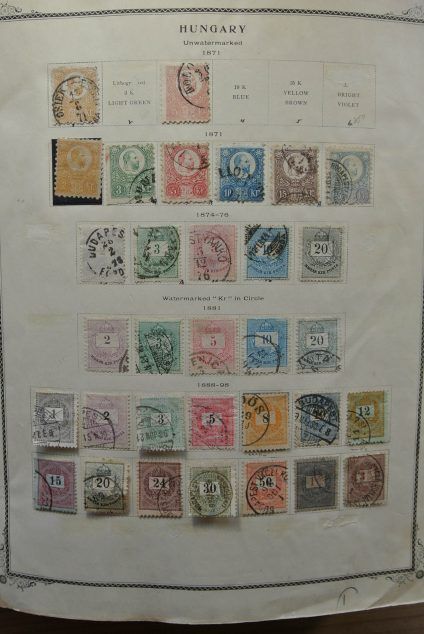 Stamp collection 22318 Hungary 1871-1976.