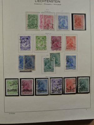 Stamp collection 23051 Liechtenstein 1912-1999.