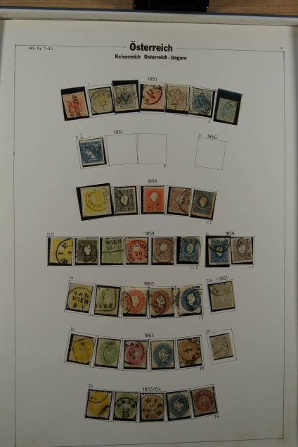 Stamp collection 23445 Austria 1850-1938.