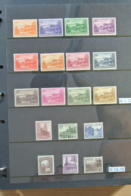 Stamp collection 24484 Norfolk 1947-2007.