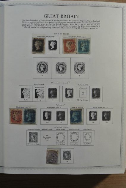 Stamp collection 24539 Great Britain and Colonies in Europe 1840-1977.