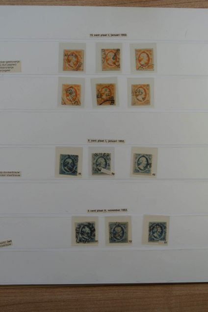 Stamp collection 24735 Netherlands 1852.