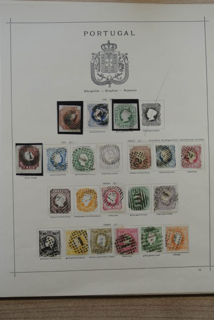 Stamp collection 24779 Portugal 1853-1930.