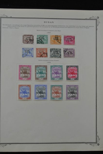 Stamp collection 24797 Sudan 1897-1965.