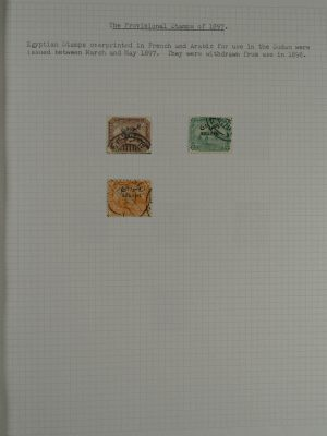 Stamp collection 24896 Sudan 1897-1948.