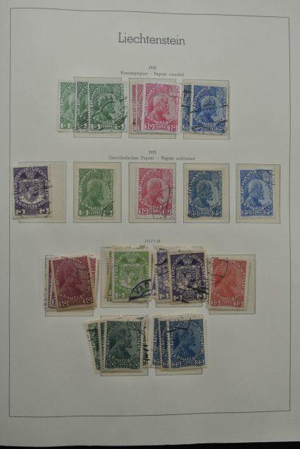 Stamp collection 25027 Liechtenstein 1912-1960.