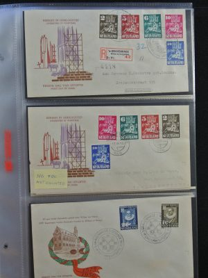 Stamp collection 25154 Netherlands 1950-1954 FDC's.