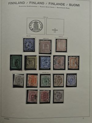 Stamp collection 25355 Finland 1860-1973.