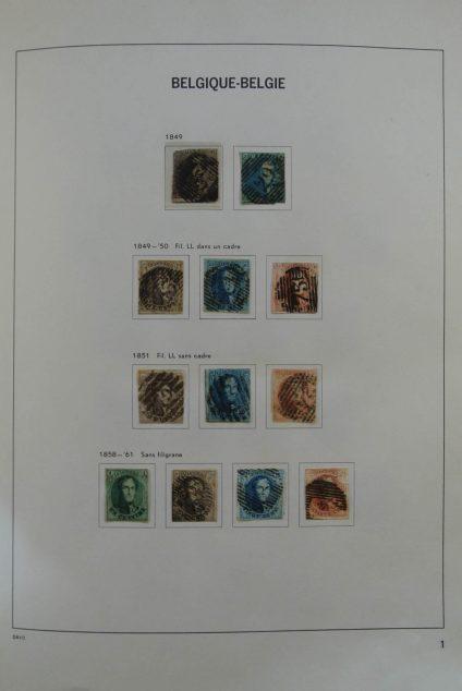 Stamp collection 25357 Belgium 1849-1959.