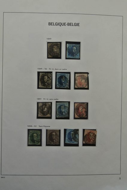Stamp collection 25360 Belgium 1849-1984.