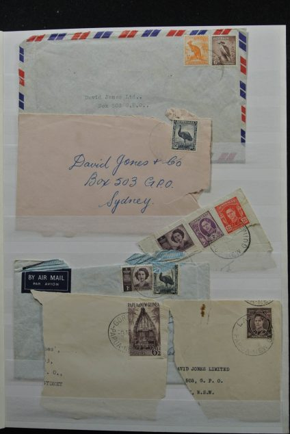 Stamp collection 25374 Papua New Guinea 1952-1956.