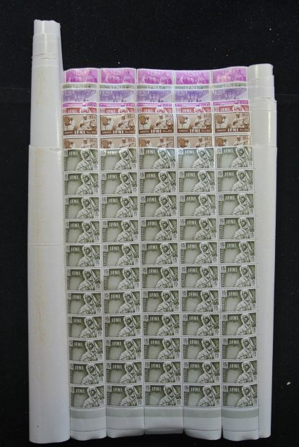 Stamp collection 25383 Spanish Colonies 1960's.