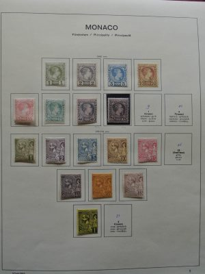Stamp collection 25491 Monaco 1885-1974.