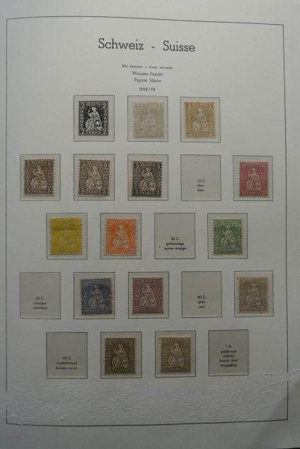 Stamp collection 25522 Switzerland 1862-1960.