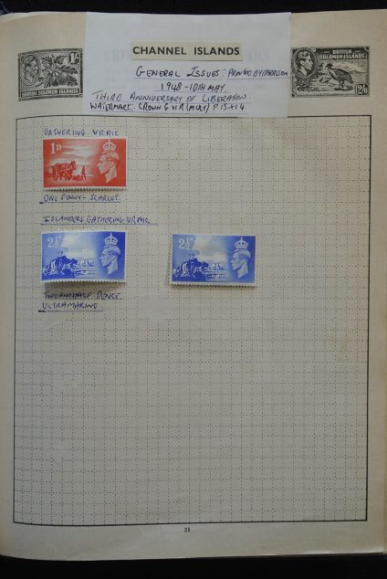 Stamp collection 25581 British Colonies in Europe 1885-1950.