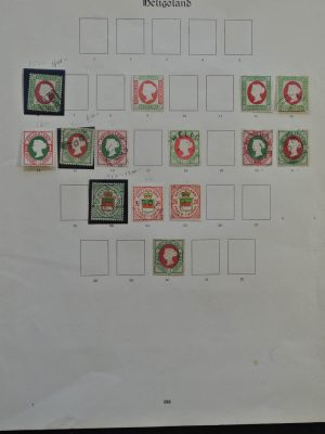 Stamp collection 25608 Helgoland 1869-1876.