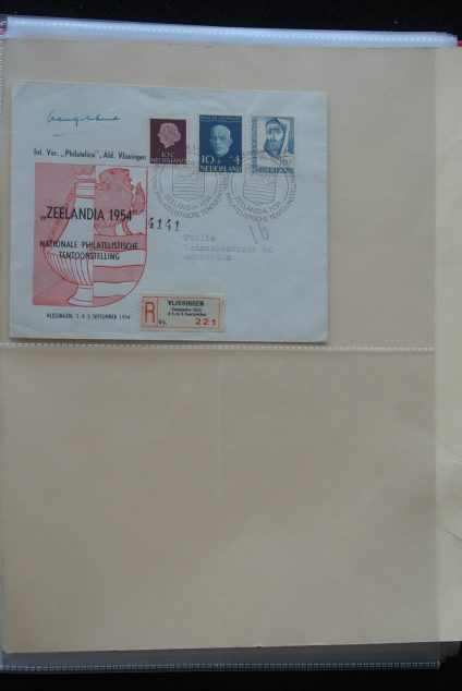 Stamp collection 25884 Europa covers '50s.