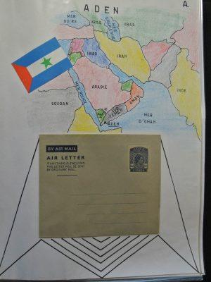Stamp collection 25888 World aerograms.