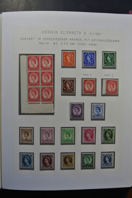 Stamp collection 26070 Great Britain 1952-1995.
