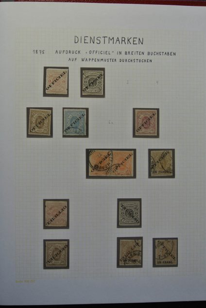 Stamp collection 26074 Luxembourg service 1875-1935.
