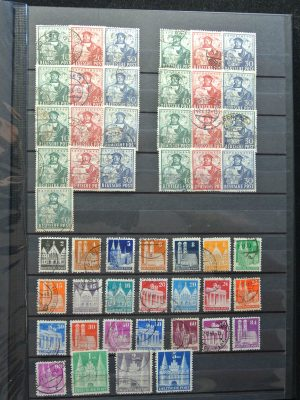 Stamp collection 26207 Bundespost and Zones.