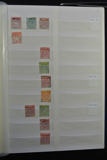 Stamp collection 26299 British East Africa cancels.
