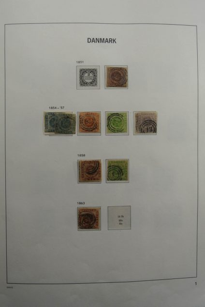 Stamp collection 26307 Denmark 1851-1998.