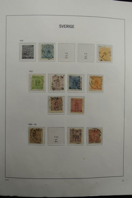 Stamp collection 26309 Sweden 1855-1994.