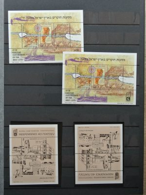 Stamp collection 26348 Israel souvenir sheets and stamp booklets.