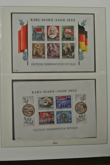 Stamp collection 26382 DDR 1919-1990.