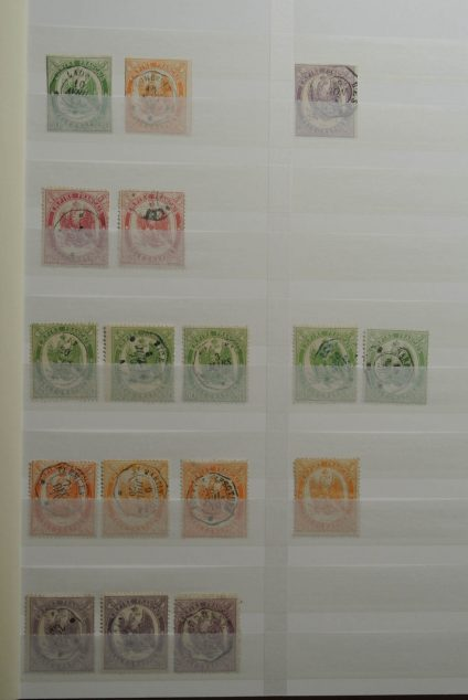 Stamp collection 26393 France postage due and telegraph stamps.
