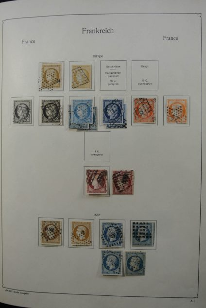 Stamp collection 26533 France 1849-1959.