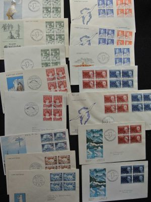Stamp collection 26545 Greenland FDC's 1956-1988.
