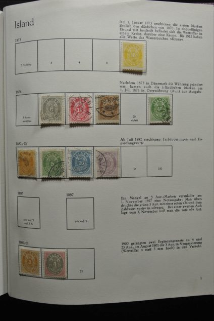 Stamp collection 26551 Iceland 1873-1978.