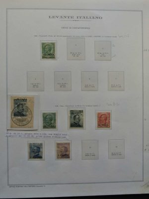 Stamp collection 26602 Italian Levant 1908-1923.
