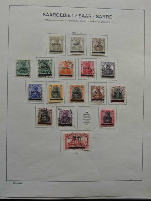 Stamp collection 26610 Saar 1920-1959.