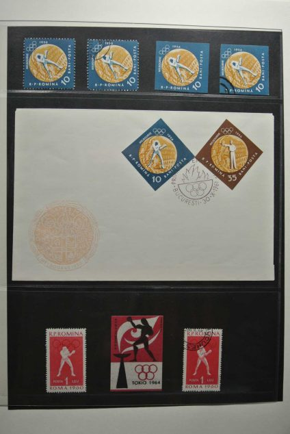 Stamp collection 26670 Boxing 1896-2009.