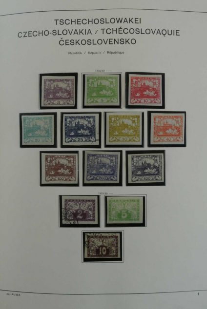 Stamp collection 26775 Czechoslovakia 1918-1989.