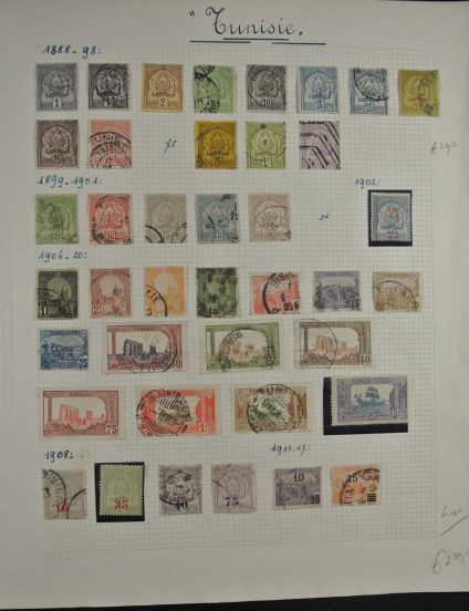 Stamp collection 26778 Tunisia 1888-1994.