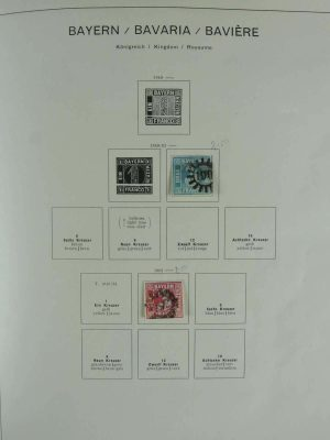 Stamp collection 26797 Germany and territories 1849-1972.
