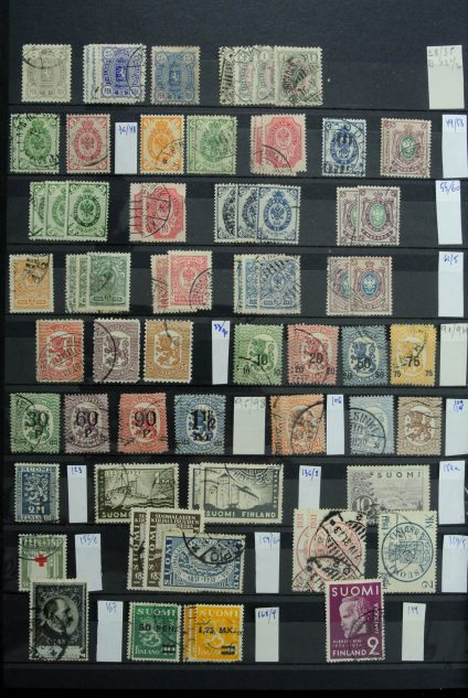 Stamp collection 26874 Finland 1875-2000.