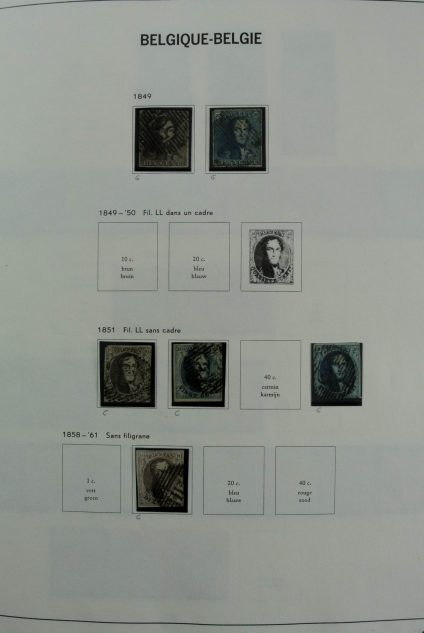 Stamp collection 26922 Belgium 1849-2006.