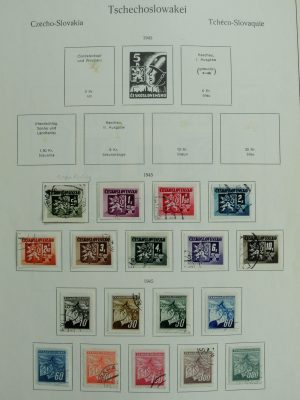 Stamp collection 27081 Czechoslovakia 1945-2003.
