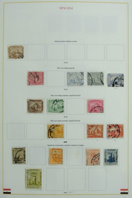 Stamp collection 27105 Egypt and Thailand 1879-2009.