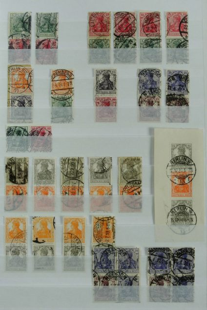 Stamp collection 27118 German Reich combinations.